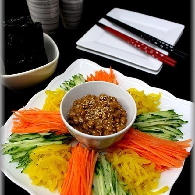 【ミツカン金のつ納豆】たくあん&納豆でヘルシーレシピ
