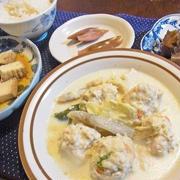 寒い日はほっこり白菜と肉団子の飛鳥鍋風煮物
