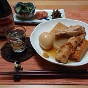 おでんの残った出汁de大根とお揚げの炊き込みご飯