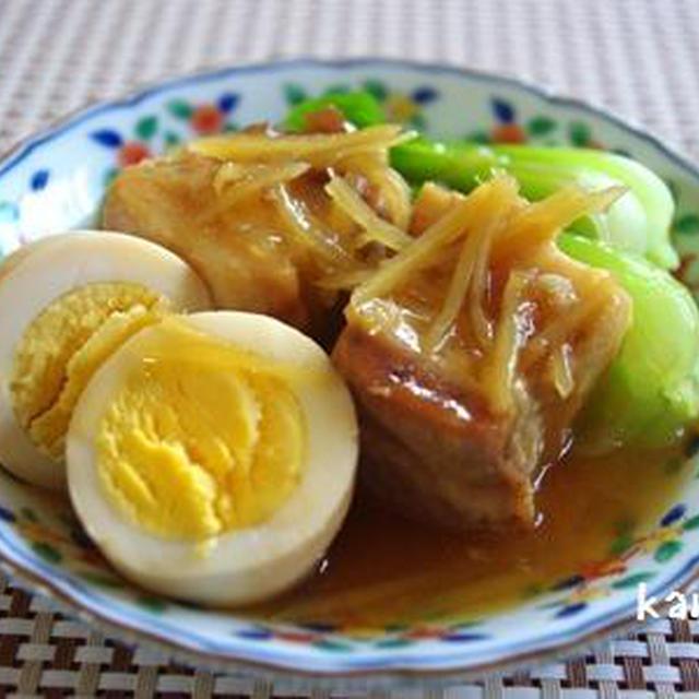生姜たっぷり豚の角煮