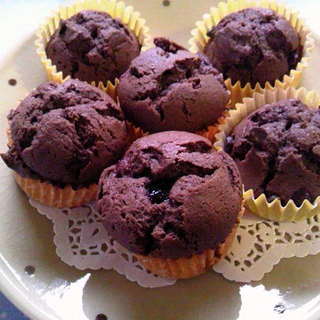 ラズベリーinチョコレートマフィン