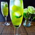 ミントと抹茶のラムソーダ わらび餅入り  Cocktail  ノンアルコール版レシピ付