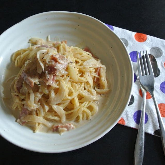 さっぱり❤ベーコンと牛乳のスパゲッティ