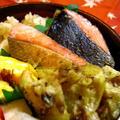 ちくわ天&スモーク風味の焼鮭弁当 by ひろりんさん
