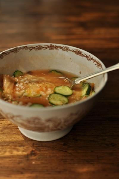 韓国キムチ入り 胡瓜の冷や汁