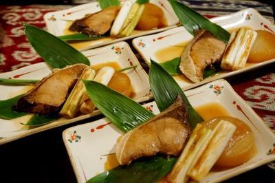 ■おもてなし料理➂【ブリ大根/茶碗蒸し/自家栽培枝豆/落花生】