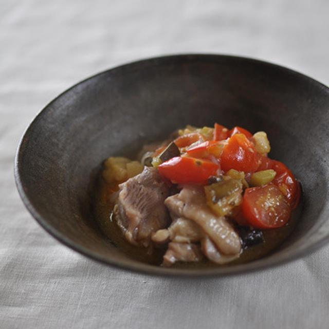 鶏と夏野菜のコトコト