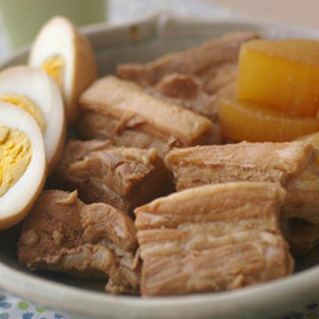 和風の角煮と小松菜のロールケーキ