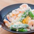 マヨネーズで和えるだけ♪海老とアスパラガスのサラダのレシピ・作り方