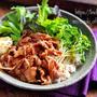 ♡豚こまde焼肉サラダのっけごはん♡【#簡単レシピ#時短#節約#丼#春休みランチ】