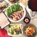 根菜たっぷり5品目のきんぴらと鴨鍋の日