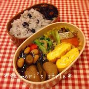 今日のお弁当~鮭と春キャベツの味噌炒めと水菜のなめたけ和え