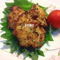 鶏肉とひじきの落とし揚げ & オクラと納豆昆布の甘酢和え by TOMO(柴犬プリン)さん