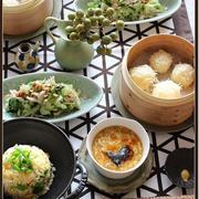 海老とアスパラの炒飯、酸辣湯~で、おうち中華♪