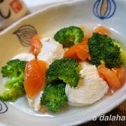 【レシピ】 鶏むね×ブロッコリー×トマトの白だしさっと煮 白だし活用で超時短レシピ