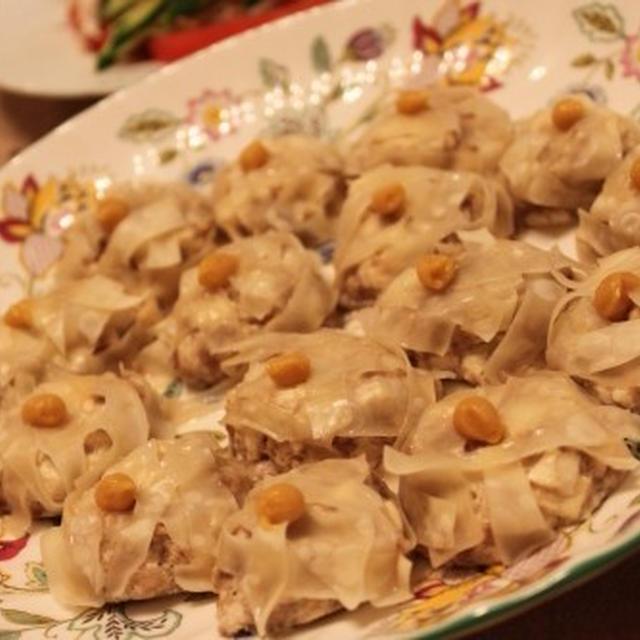 初挑戦の豆腐シュウマイ♪ 棒棒鶏、かに玉で中華ご飯