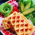 玄米とベーコンのワッフル(動画レシピ)/Brown rice and Bacon Waffles. by みすずさん