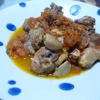 骨付き鶏のフレッシュトマト煮