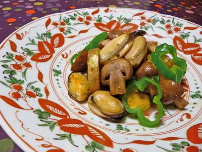 ムール貝とジャガイモのソテー