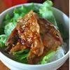 豚バラ肉のカリカリ甘辛丼