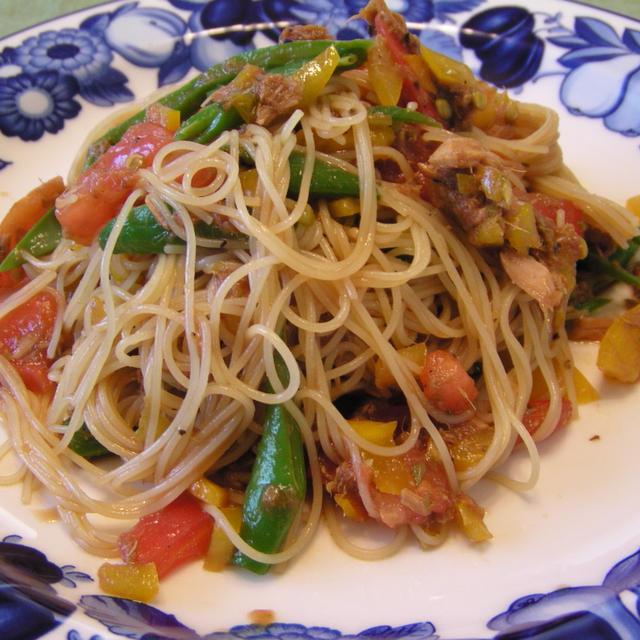 冷製野菜のパスタ