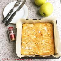 ノンオイル♡混ぜて簡単!アップルシナモンケーキ