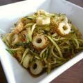 海藻麺とちくわの梅肉入り中華サラダ♪