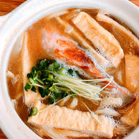 焼き鮭のっけの味噌うどん