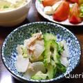 冬瓜とツナの梅風味サラダと中華風スープで夏バテ知らず! by quericoさん