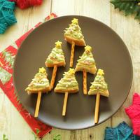 動画で!【19】クリスマスに♪バウムクーヘンでミニツリーケーキ