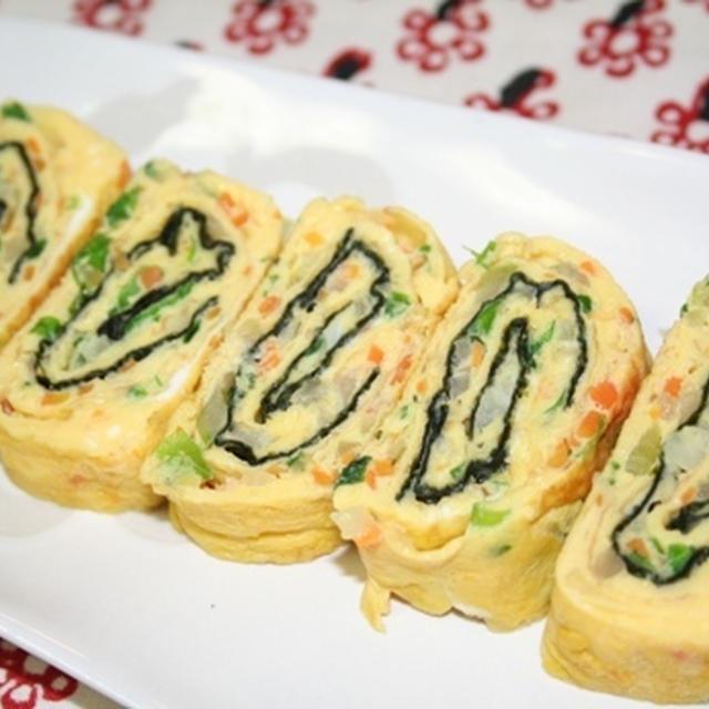ゲランマリ (계란말이)--韓国の野菜たっぷり卵焼き