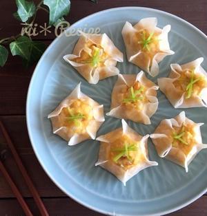 レンジで簡単*豆腐とちくわのふわふわシュウマイ
