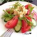 「だし×オイル」楽旨♡レンジでタルタルソース〜和風味〜で食べる美肌サラダ by Mariさん