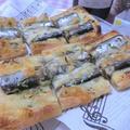 オイルサーディンの油揚げピザ