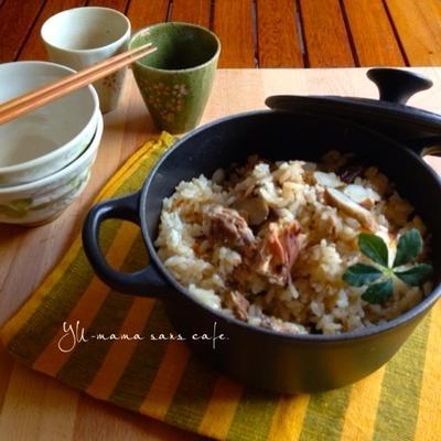 サバ缶でサバ味噌ごぼう炊き込みご飯♪〜美味しすぎる!〜