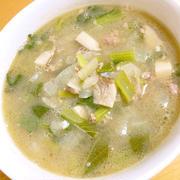 糖質制限スープ<牛ひき肉と小松菜のスープ>