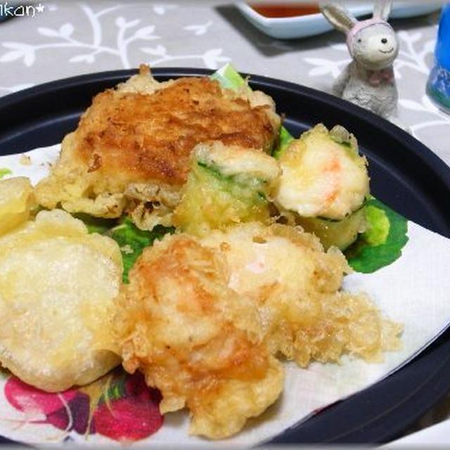 鶏天、ポテトサラダの天ぷら。。。と、本日発売!Martに掲載されました♪