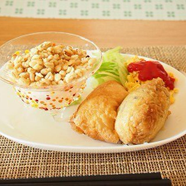 ■メニュー■ロコモコ、じゃが芋の晩餐館のタレ炒め*7月11日
