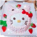 3連チャン?「ちょっと可愛い💛お菓子教室」 ~うさちゃんキティケーキ~
