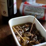 砂肝の黒胡椒コンフィ。