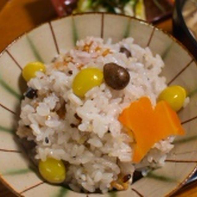 秋たっぷり!銀杏とムカゴのおこわ で朝ごはん&お弁当