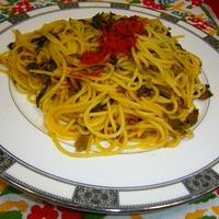 お弁当に。パプリカ風味の高菜パスタ