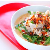 【簡単】冷やし豆乳担々麺 豚しゃぶのせをお家にある食材で作るレシピ!