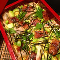 鰻とゴーヤのばら寿司。黒ごまで\(^o^)/