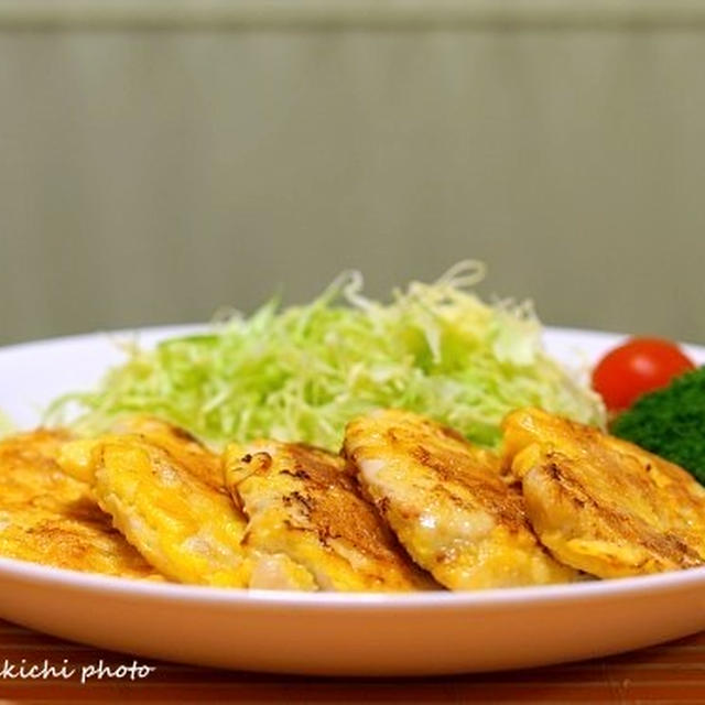 塩麹を使って「鶏肉のピカタ」&「鶏肉のソテーカリカリ鶏皮つき」