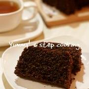 レンジで4分!ラムが香る、濃厚パン粉のチョコケーキ