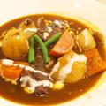 【洋食】仕上げはヨーグルトクリーム♡「圧力鍋で☆簡単とろけるビーフシチュー」の晩ごはん。 by きちりーもんじゃさん