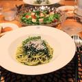 『紫蘇としらすのスパゲッティ』の夜ごはん。