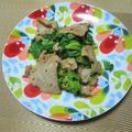 爽やか♪ 菜の花と豚肉のマスタードしょうゆ炒め by masaさん