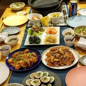 自宅で韓国料理♪新年会&バースデー♪